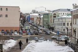 Вид на главный дом городской усадьбы Урванцевых (К.Маркса,11) со стороны ул. Миславского