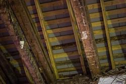Кровля здания восстановлена. Дом Чекмарева, К.Маркса 15, 11.02.2013