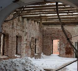 Одно из помещений в здании Адмиралтейской конторы (К.Маркса 17). XVIII