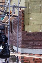 Фрагмент кладки дома, построенного ASG по ул. Тукая