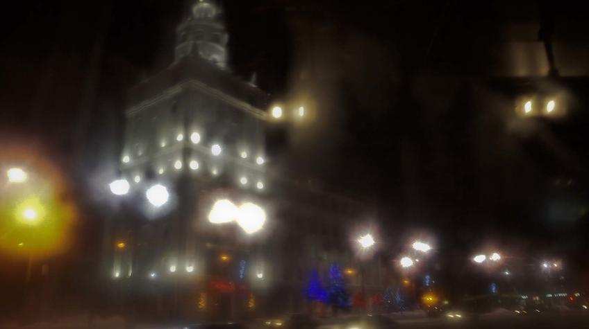 Первые кадры Перми, сделанные через замерзшее окно автомобиля. 12 января 2012г.::Прогулка по Перми