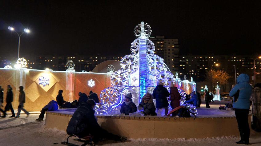 Фото №90278. Пермь. Эспланада. Ледяной городок