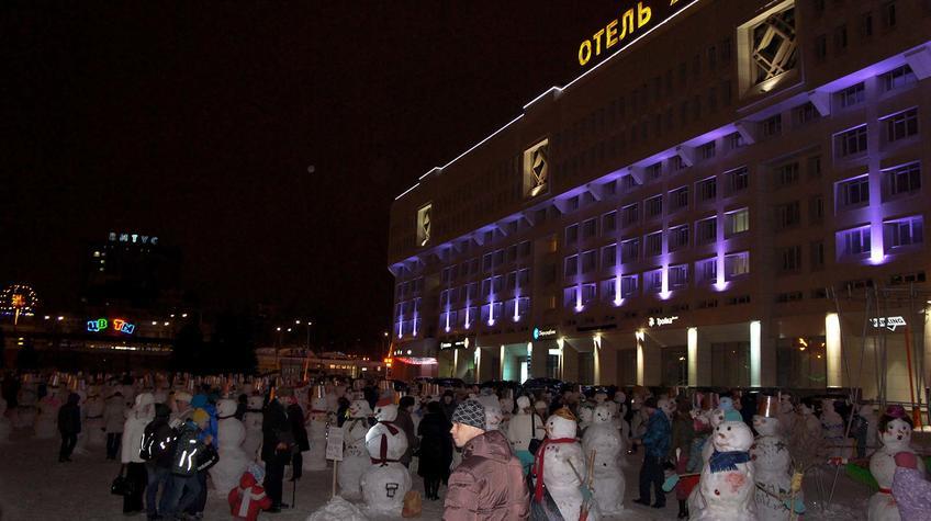 Фото №90328. Парад снеговиков в Перми. Январь 2012