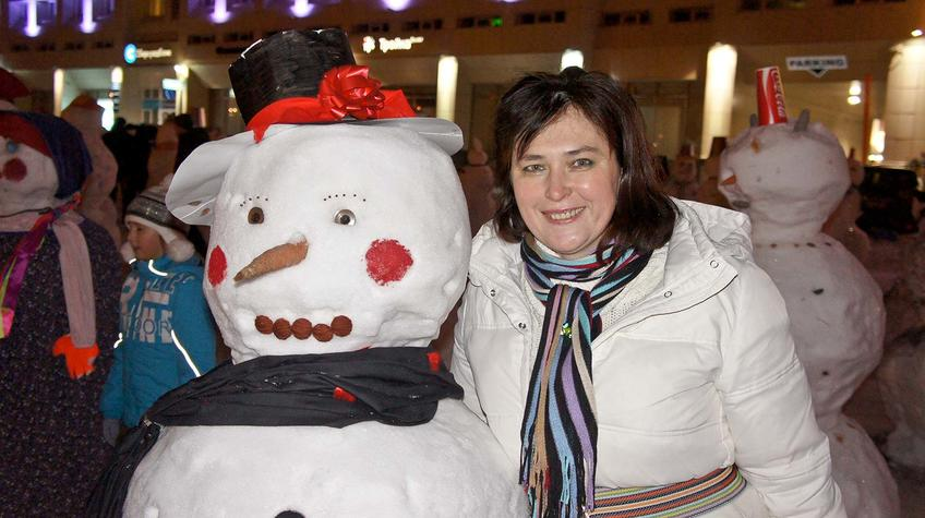 Е.Сунгатова и Снеговик::Прогулка по Перми