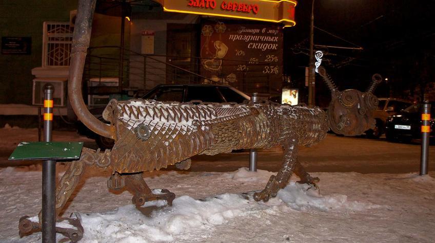 Фото №90393. Скульптура ''Котофеич''. Скульптор, Ингрид Струэнзе, Москва