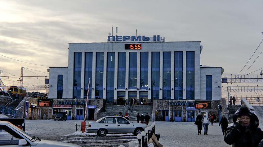 Фото №90800. Железнодорожный вокзал Пермь-II, январь 2012