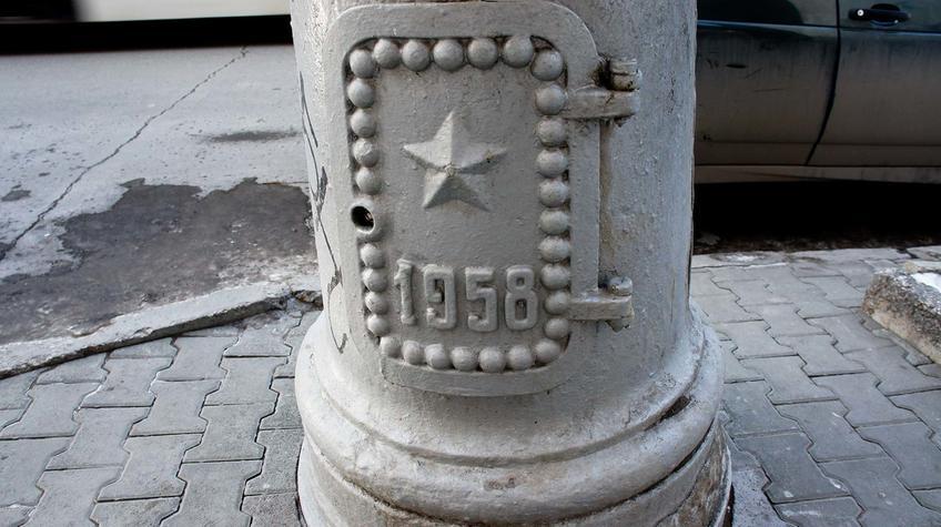 Фото №90850. Фрагмент столба на Комсомольском проспекте. Пермь