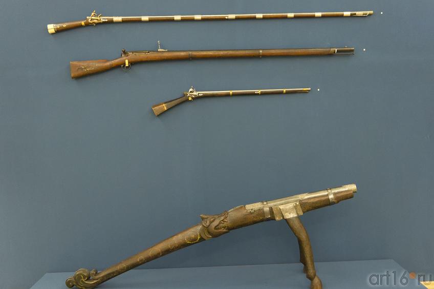 Фото №72105. Пушка, ружья (кремневые и промысловое )