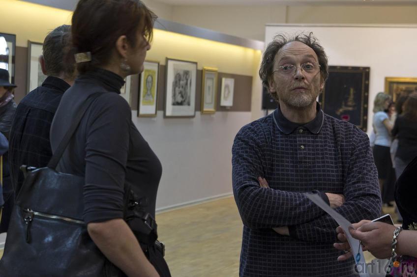 Фото №76612. Г.Тулузакова, И. Артамонов на открытии выставки в Манеже