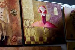 Стенд с работами украинских художников на «Арт-галерее. Казань — 2013». Светлана Румак.