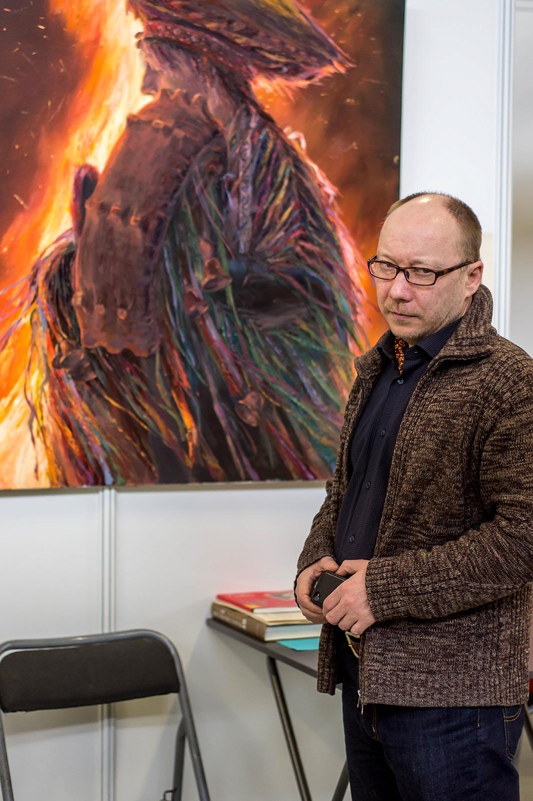 Фото №140109. Альберт Тимиршин на «Арт-галерее. Казань — 2013»