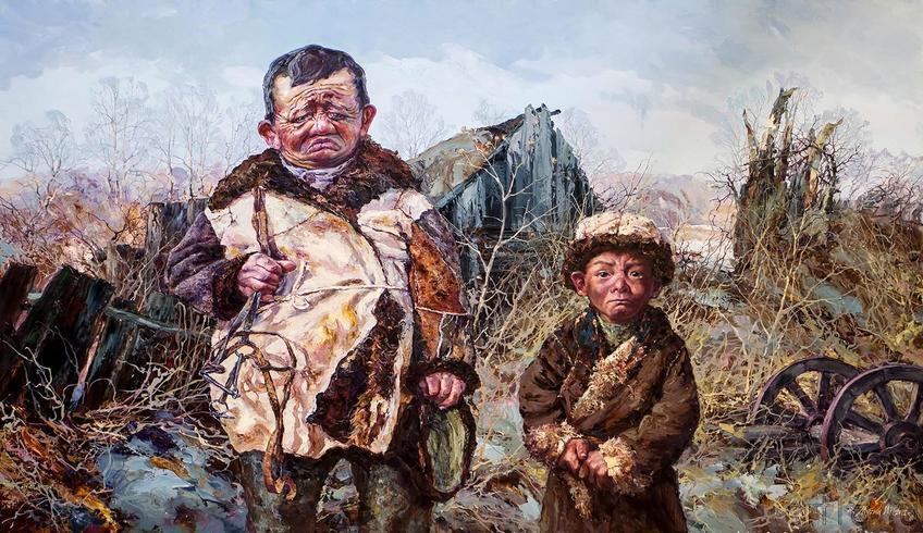 Фото №140121. Работа Ирика Мусина, часть экспозиции художника на «Арт-галерее. Казань — 2013»