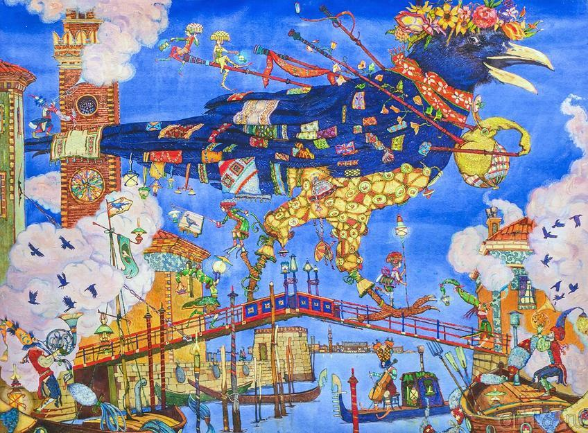 Петр Фролов (Санкт-Петербург). ʺВʺ (Венок, ворон, Венеция, волынка и т.д.)::Арт-галерея 2013 на Казанской ярмарке