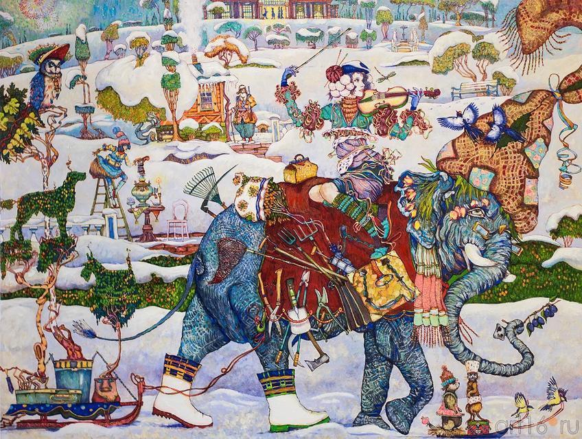 Петр Фролов (Санкт-Петербург) ʺСʺ (слон, садовник, скрипка и т.д.)::Арт-галерея 2013 на Казанской ярмарке