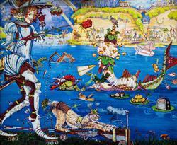 Петр Фролов (Санкт-Петербург). ''Р'' (Рыцарь, русалка, рыба, ролики и т.д.)