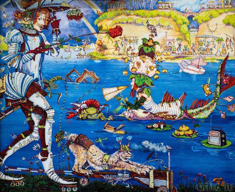 Петр Фролов (Санкт-Петербург). ʺРʺ (Рыцарь, русалка, рыба, ролики и т.д.)::Арт-галерея 2013 на Казанской ярмарке