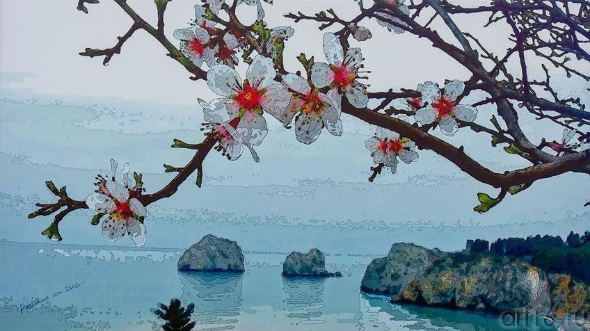 Фото №140685. Весна в Крыму. Живописный Рендеринг в стиле Поп-Арт (Дм. и О.Пастернак)