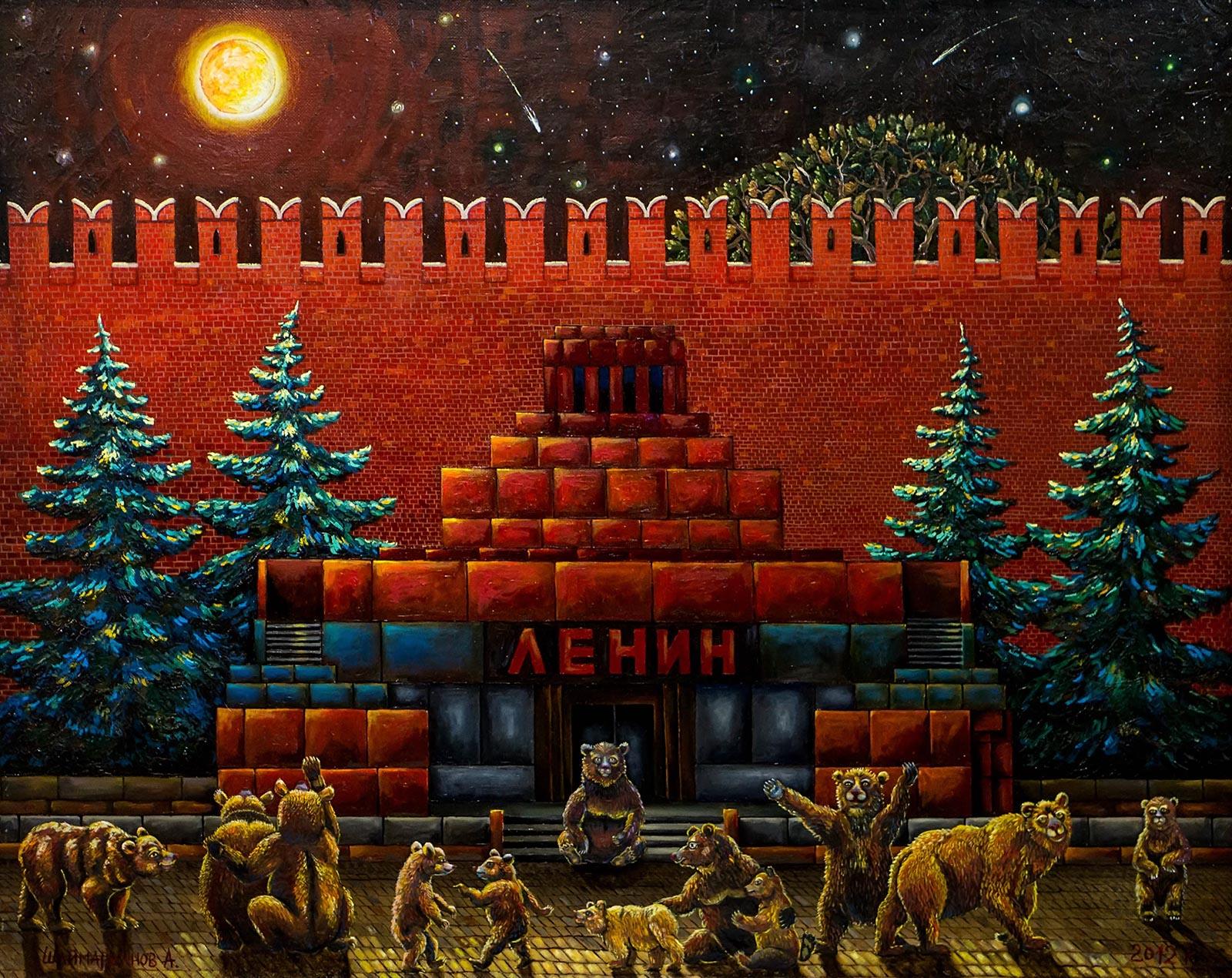 Фото №140823. Ночь. Москва. Мавзолей. 2012. Альфрид Шаймарданов