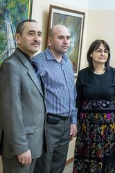 Мансур Муртазин, Дамир Хафизов, Расиха Фаизова. Открытие выставки Д.С.Хафизова
