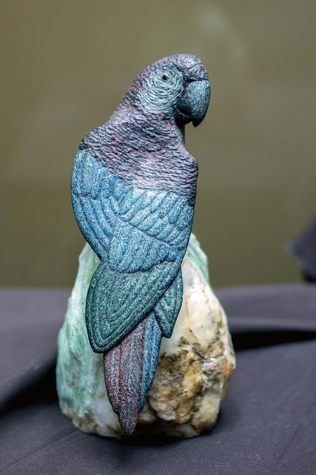 Фото №141279. Попугай. Ангидрит, природный краситель