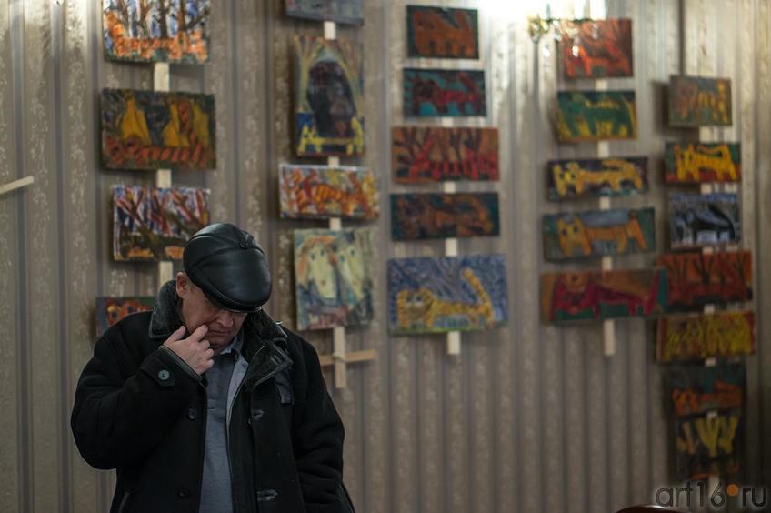 Илья Чирков на выставке Виктора Тимофеева::«Мартовский кот», выставка Виктора Тимофеева