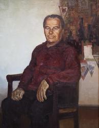 ПОРТРЕТ С.С. ЩЕРБАКОВА - ДЕСЯТИКРАТНОГО ЧЕМПИОНА СССР ПО БОКСУ. 1986