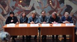 Пресс-конференция перед открытием выставки «О, спорт! Ты —мир!»