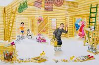 """ИЛЛЮСТРАЦИЯ К ПОЭМЕ Р. ХАРИСА ДЕТЕЙ """"КРАСИВЫЙ ДОМ"""". 2005"""
