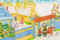 Иллюстрация к поэме Р. Хариса для ДЕТЕЙ «КРАСИВЫМ ДОМ». 2005