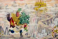 ИЛЛЮСТРАЦИЯ К ТАТАРСКОЙ НАРОДНОЙ СКАЗКЕ «БЕЛЫЙ ВОЛК». 1998