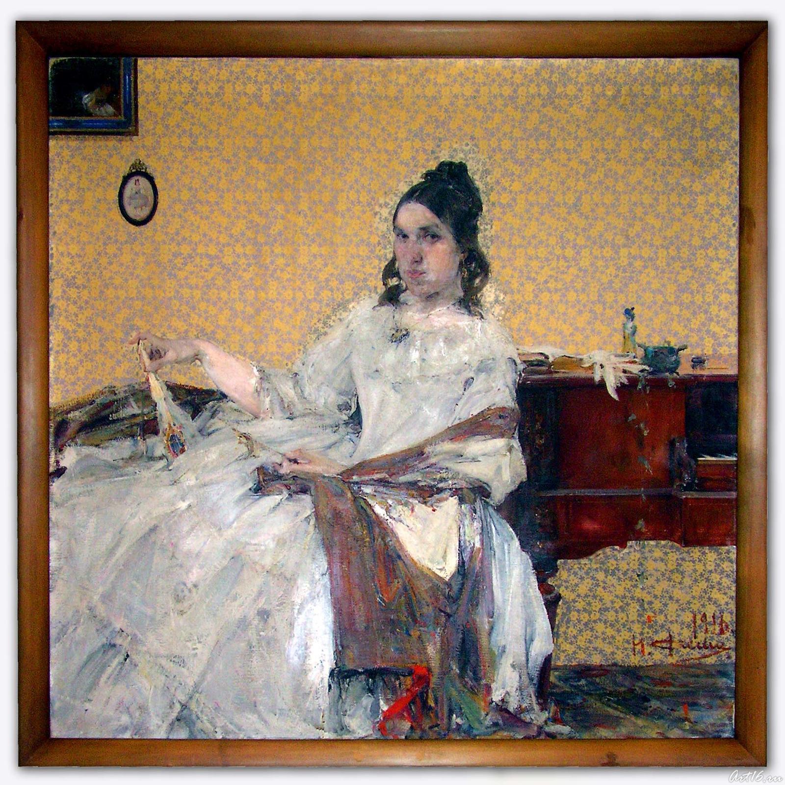 Фото №14533. Портрет Надежды Михайловны Сапожниковой. 1916. Фешин Н.И.
