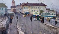 В РАЙОННОМ ЦЕНТРЕ. 1964