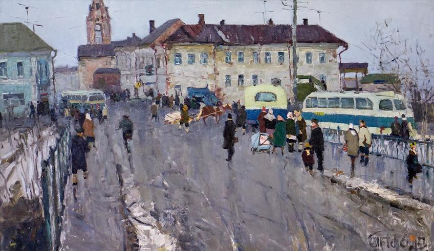 В РАЙОННОМ ЦЕНТРЕ. 1964::Андрей Лаврентьевич Прокопьев. Выставка, посвященная 90-летию со дня рождения