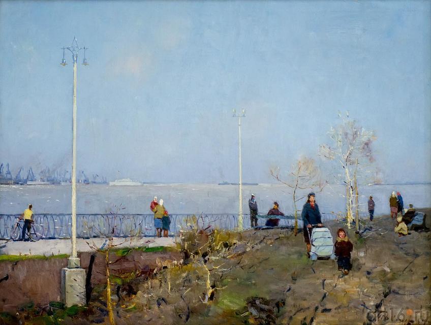 ВЕСНА НА НАБЕРЕЖНОЙ. 1961::Андрей Лаврентьевич Прокопьев. Выставка, посвященная 90-летию со дня рождения