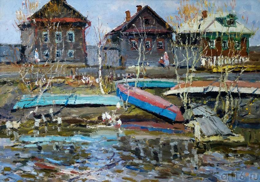 РЫБАЦКАЯ СЛОБОДА. 1964::Андрей Лаврентьевич Прокопьев. Выставка, посвященная 90-летию со дня рождения