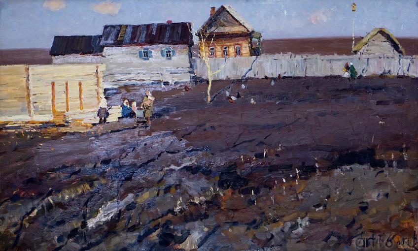 НА ВЕСЕННЕЙ ЗЕМЛЕ. 1969::Андрей Лаврентьевич Прокопьев. Выставка, посвященная 90-летию со дня рождения