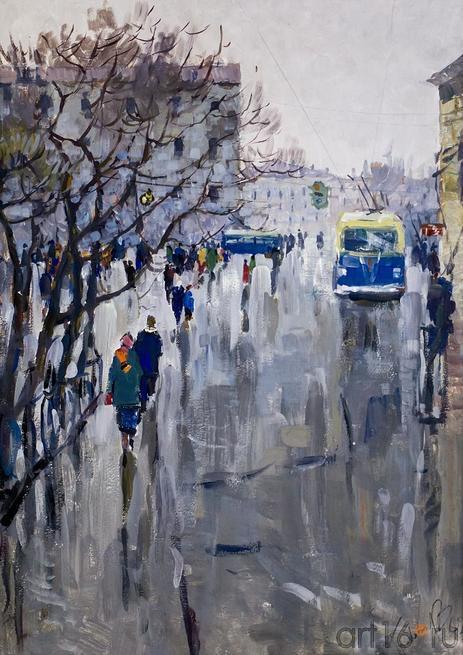 ДОЖДИК. 1962::Андрей Лаврентьевич Прокопьев. Выставка, посвященная 90-летию со дня рождения