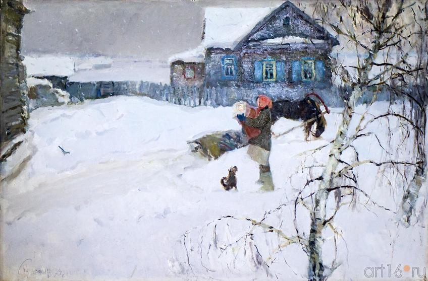 СНЕГ ИДЕТ. 1973::Андрей Лаврентьевич Прокопьев. Выставка, посвященная 90-летию со дня рождения