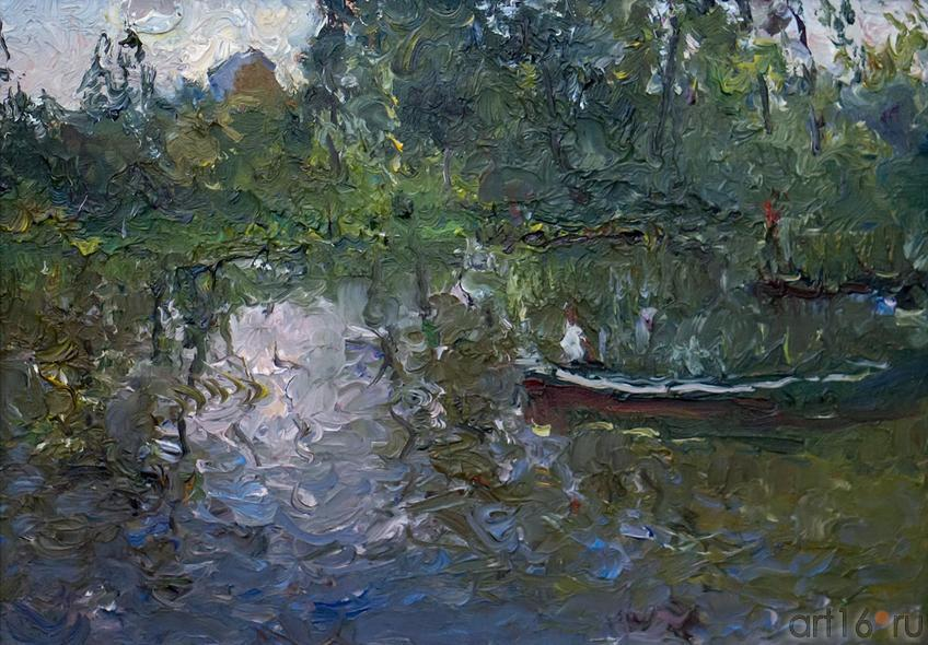 НА ДАЧЕ. ЗАЛИВ. 1988::Андрей Лаврентьевич Прокопьев. Выставка, посвященная 90-летию со дня рождения