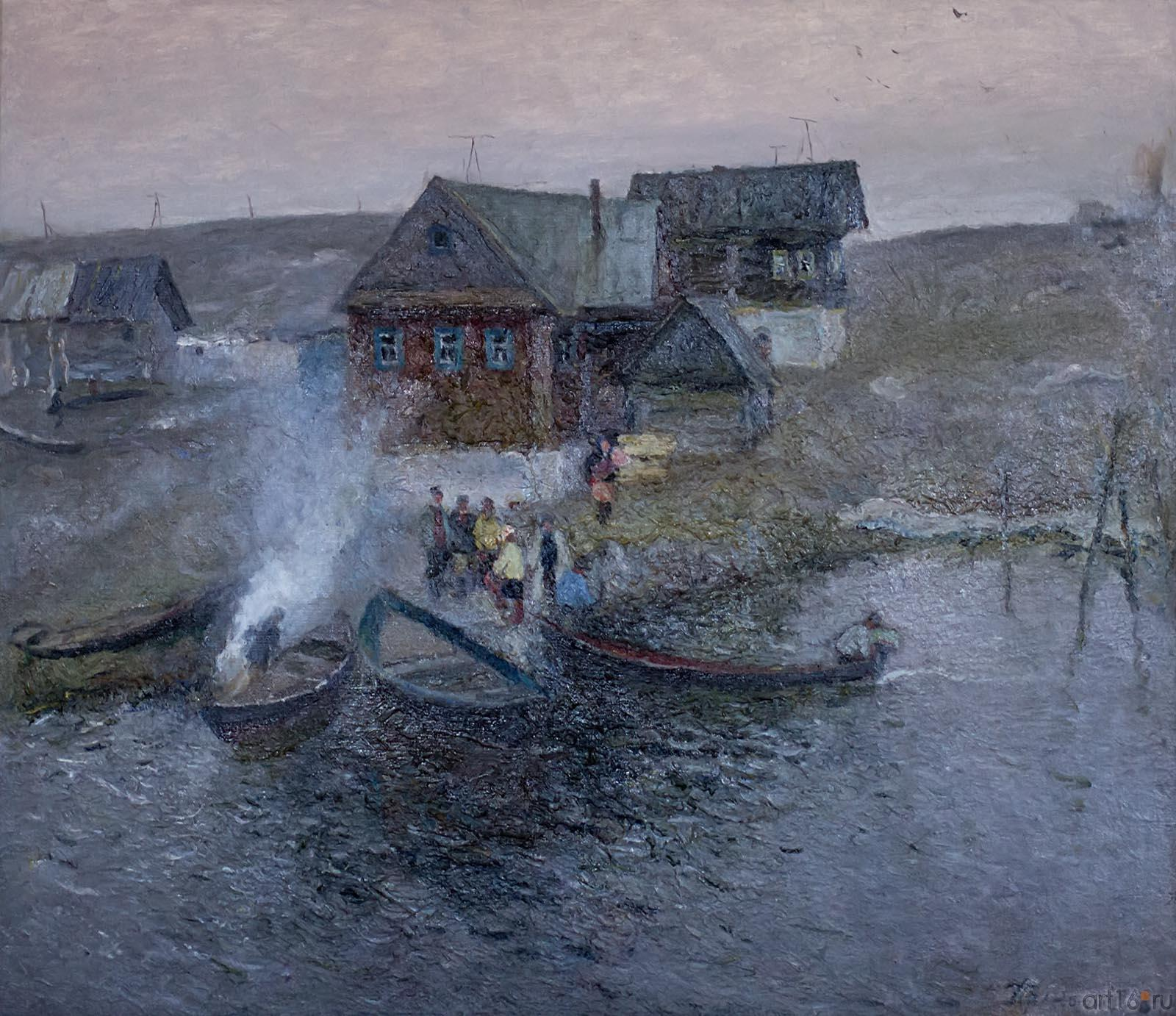 В РЫБАЦКОМ ПОСЕЛКЕ. 1984::Андрей Лаврентьевич Прокопьев. Выставка, посвященная 90-летию со дня рождения
