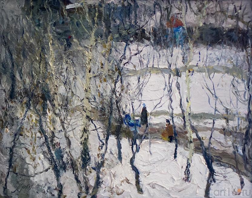 В КОНЦЕ ЗИМЫ. 1985::Андрей Лаврентьевич Прокопьев. Выставка, посвященная 90-летию со дня рождения