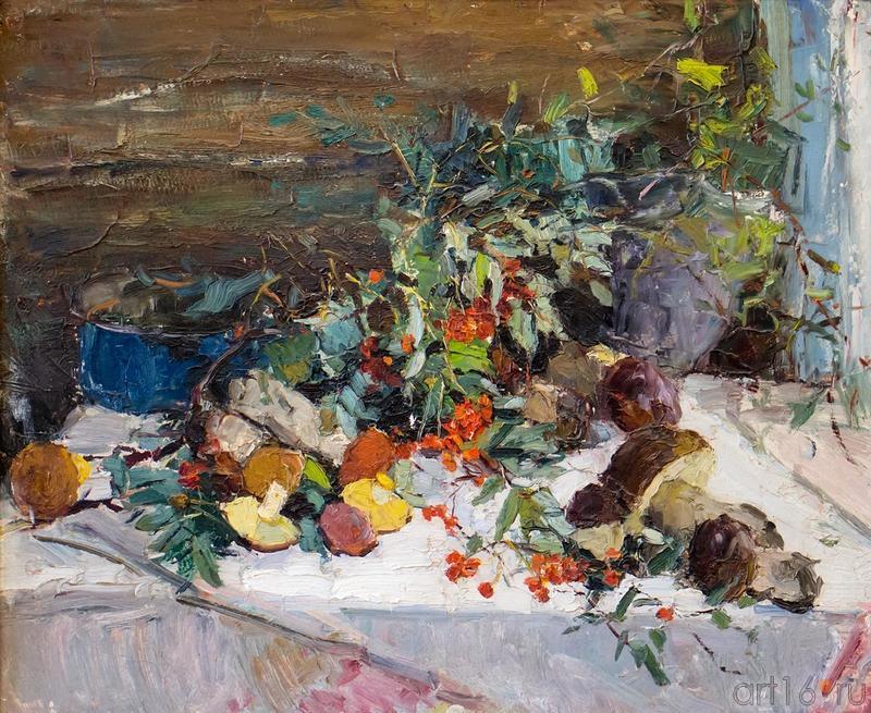 НАТЮРМОРТ С ГРИБАМИ 1960::Андрей Лаврентьевич Прокопьев. Выставка, посвященная 90-летию со дня рождения