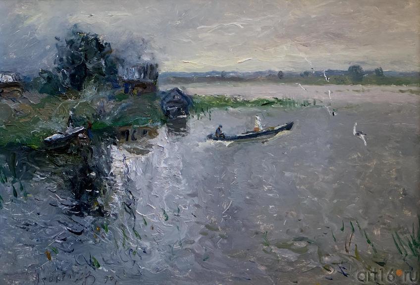 ПОСЛЕ ДОЖДЯ. 1988::Андрей Лаврентьевич Прокопьев. Выставка, посвященная 90-летию со дня рождения