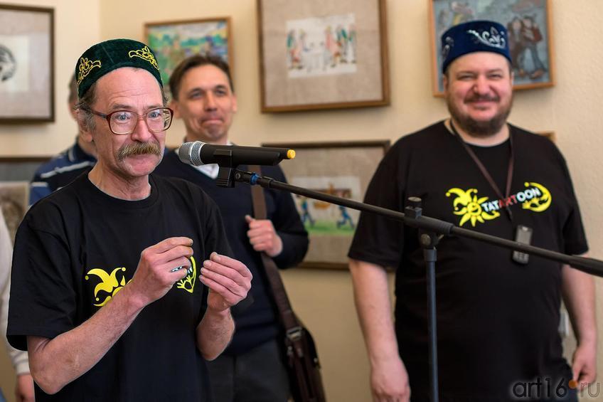 Фото №147263. Ильдус Азимов, Вячеслав Бибишев  и др. карикатуристы