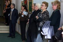 На открытии выставки  «Танец цветов»