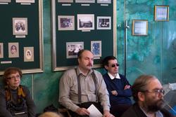 В. Гаранин ( в центре). На творческом вечере А. Абсалямовой