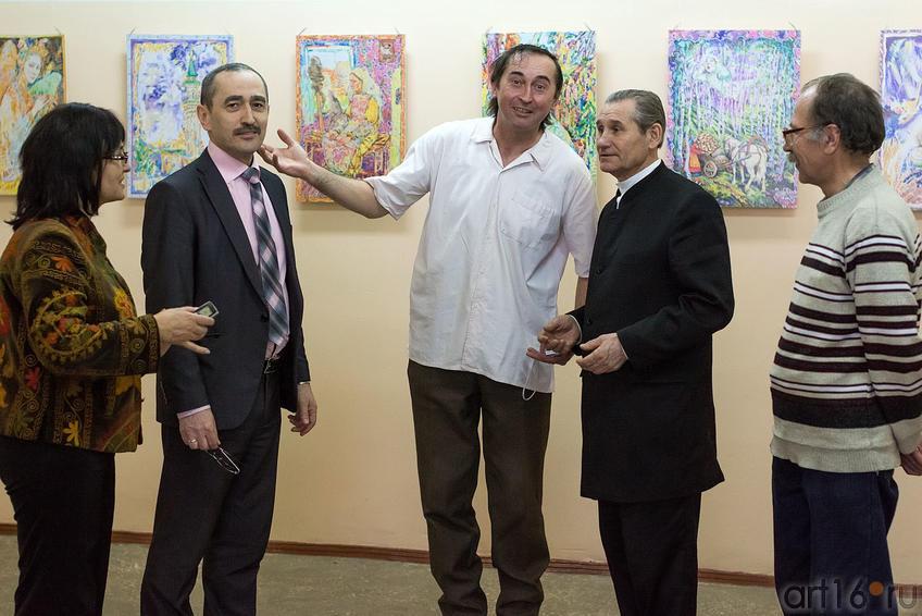 Фото №150611. Р.Фаизова, М. Муртазин, А. Сайфутдинов, М.Галиев, И.Азимов