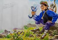 КОВАЛЕВ В.И. 1961 ИЛЛЮСТРАЦИЯ К СКАЗКЕ «ЖАДНЫЙ ОХОТНИК». 2008