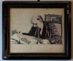 В.И.Ленин. Вышивка крестиком (ручная работа)
