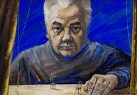 СКОМОРОХОВ С.Г. 1952 ПОРТРЕТ НАРОДНОГО АРТИСТА СССР, РЕЖИССЕРА М.Х. САЛИМЖЛНОВА. 2006